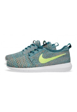 Кроссовки Nike Roshe Run Flyknit Mineral Teal (Е-521)