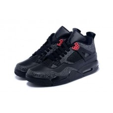 Кроссовки Nike Air Jordan IV Серо-черные (Е-243)