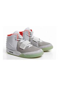 Кроссовки Nike Air Yeezy 2 Wolf Grey/Pure Platinum (Е-512)