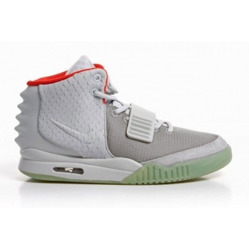 Кроссовки Nike Air Yeezy 2 Wolf Grey/Pure Platinum (Е-512)