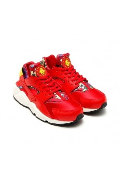 Кроссовки Nike Air Huarache Aloha Red (Е-711)