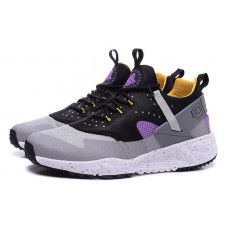 Кроссовки Nike Air Huarache Grey/Yellow (Е-713)