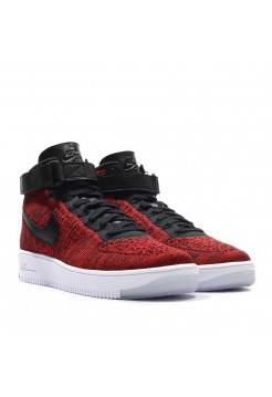 Кроссовки Nike Air Force Ultra Flyknit High red (VАО279)