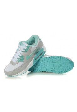 Кроссовки Nike Air Max 90 green white (Е-132)