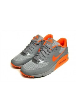 Кроссовки Nike Air Max 90 Hyperfuse grey-orange (Е-171)