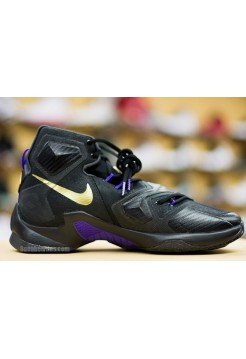 Кроссовки Nike Lebron 13 black purple (Е-216)