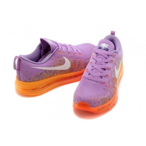 Кроссовки Nike Air Max Flyknit Рurple/Оrange (Е-623)