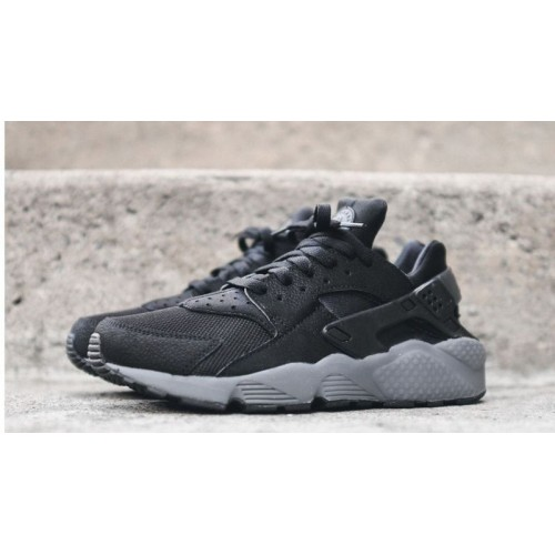 Кроссовки Nike Air Huarache Black/Grey (ОАМ714)