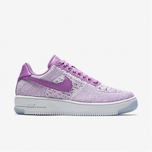 Кроссовки Nike Air Force Ultra Flyknit Low Orchid (ОЕ281)