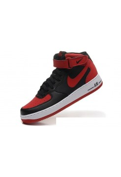Кроссовки Nike Air Force Hidh Black/red (Е-220)