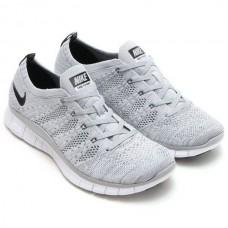 Кроссовки Nike Free Run Flyknit NSW Wolf Grey (Е-125)