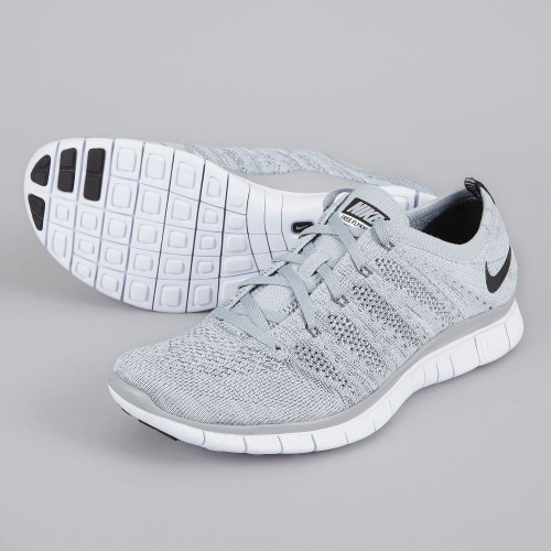Кроссовки Nike Free Run Flyknit NSW Wolf Grey (Е-125)