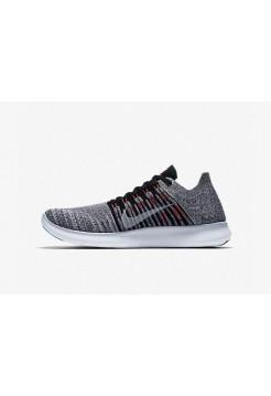 Кроссовки Nike Free Run Flyknit Серые (Е-126)