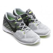 Кроссовки Nike Flyknit Lunar White/Grey (E-243)