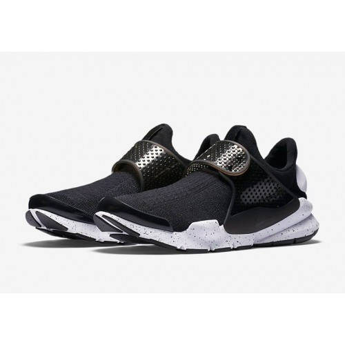 Кроссовки Nike Sock Dart SE Black And White (Е-583)