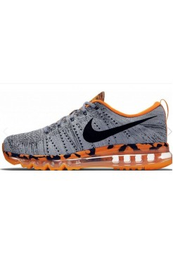 Кроссовки Nike Air Max Flyknit Grey/Black/Orange (Е-622)