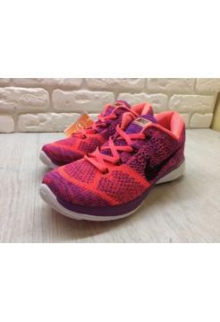 Кроссовки Nike Flyknit Lunar 3 Orange/Rose (E-244)