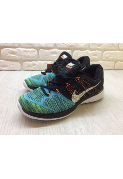 Кроссовки Nike Flyknit Lunar 3 Black/Teal (E-245)