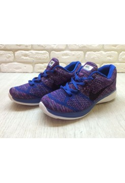 Кроссовки Nike Flyknit Lunar 3 Violet/Blue (E-246)