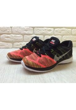 Кроссовки Nike Flyknit Lunar 3 Orange/Black (E-241)