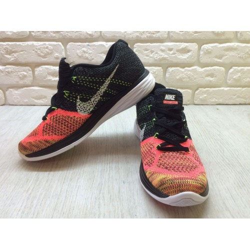 Кроссовки Nike Flyknit Lunar 3 Orange/Black (E-241)