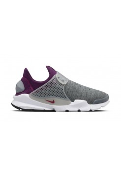 Кроссовки Nike Sock Dart Grey-Mulberry (Е-584)