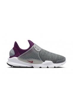 Кроссовки Nike Sock Dart Grey-Mulberry (Е-584)