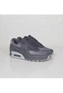 Кроссовки Nike Air Max 90 Premium Dark Grey/Wolf Grey  (Е-129)