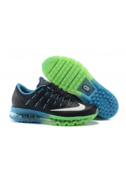 Кроссовки Nike Air Max 2016 Black /Blue/Green (Е-126)