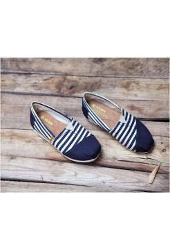 Эспадрильи Toms Classic Blue-White Combination (Е-528)