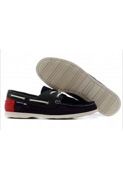 Мокасины Lacoste Blue Red (Е-711)
