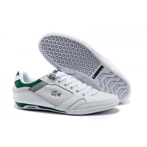 Кроссовки Lacoste Basket White/Green (Е-713)