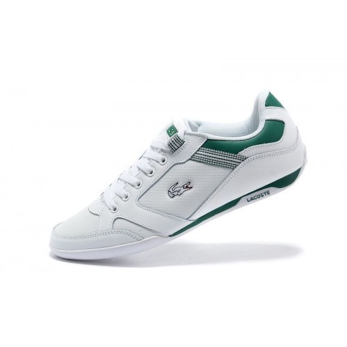 Кроссовки Lacoste Basket White/Green (Е-713)