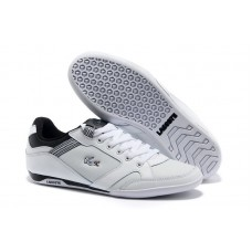 Кроссовки Lacoste Basket White/Black (Е-714)