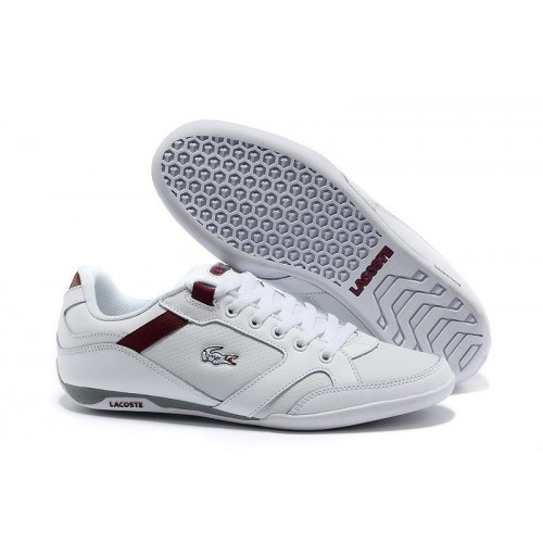 Кроссовки Lacoste Basket White/Red (Е-715)