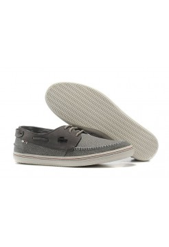 Мокасины Lacoste Grey Cotton (Е-713)