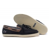 Мокасины Lacoste Black and Coffee (Е-715)