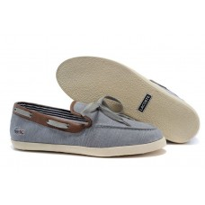 Мокасины Lacoste Grey and Coffee (Е-722)