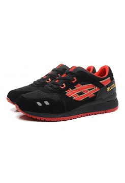 Кроссовки Asics Gel Lyte III Black Red (Е-120)