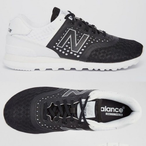 Кроссовки New Balance 574 Black/White (Е-811)