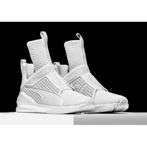 Кроссовки Puma Rihanna Fenty White (Е-236)