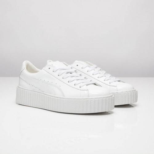 Кроссовки Puma Rihanna Suede Creeper White (ЕМ201)