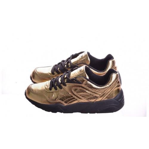 Кроссовки Puma Trinomic R698 Gold (Е-415)