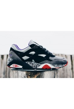 Кроссовки Puma R698 grey red black (Е-314)