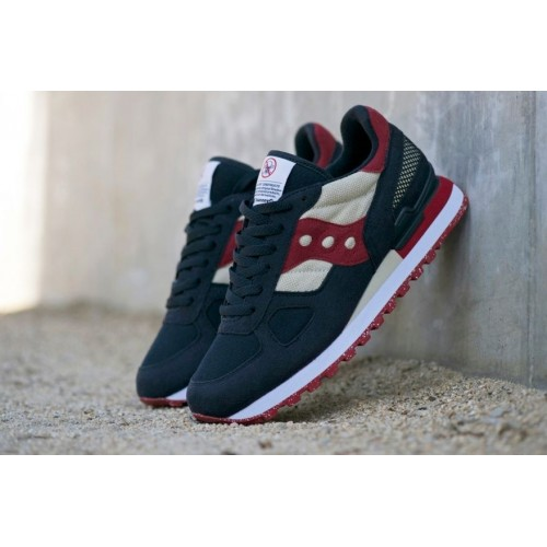 Кроссовки Saucony Shadow Black/Bordo (Е-313)