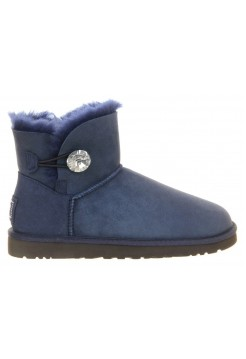 UGG Mini Bailey Button Bling Blue