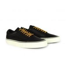 Кеды Vans Old Skool black leather (WAV005)