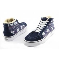 Кеды Vans Sk8 Hi Winter Boots Синие (V-364)