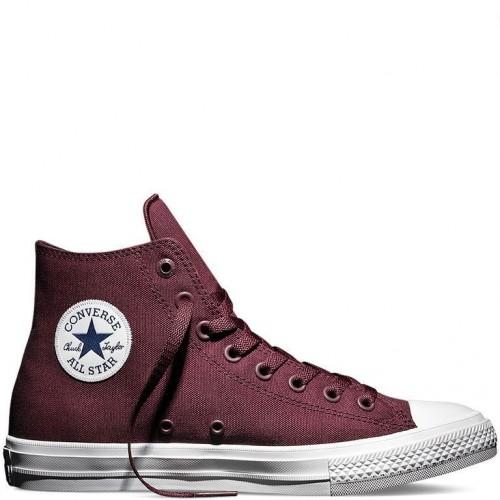 Кеды Converse Chuck Taylor All Star II High Бордо (VM012)