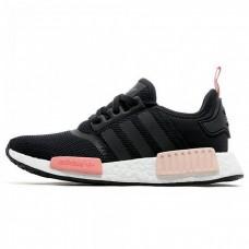 Кроссовки Adidas NMD Черно/розовый (V-422)